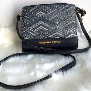 🎀 Designer Christian Siriano Small 7.5' x 6.5' Black Shoulder Crossbody Bag 🎀
